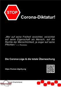 Stop corona diktatur